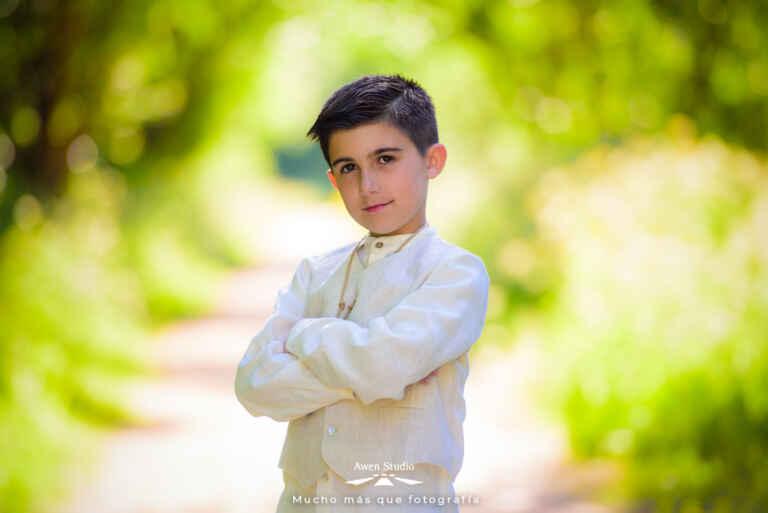 Foto niño comunión Cambre